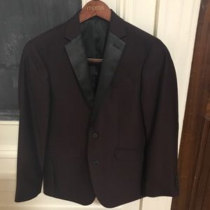 Slim fit maroon blazer
